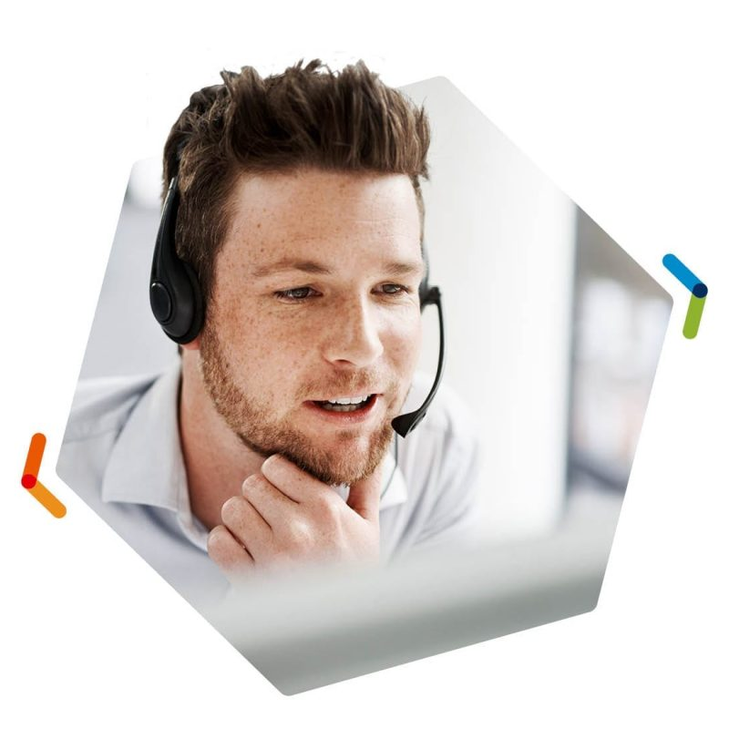 NEC Univerge Blue Engage Call Center Male Worker