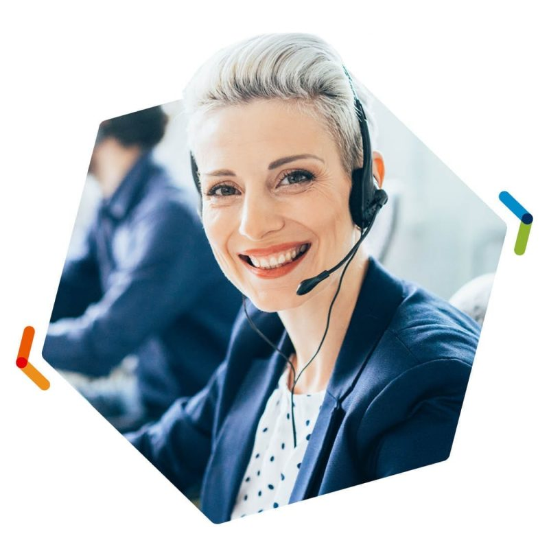 NEC Univerge Blue Engage Call Center Female Worker